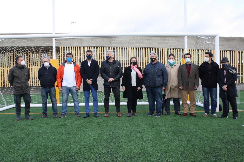 FOTOS - La RFFM, en la inauguración del campo de fútbol y rugby Antonio Martin en Torrelodones (11 diciembre 2020)
