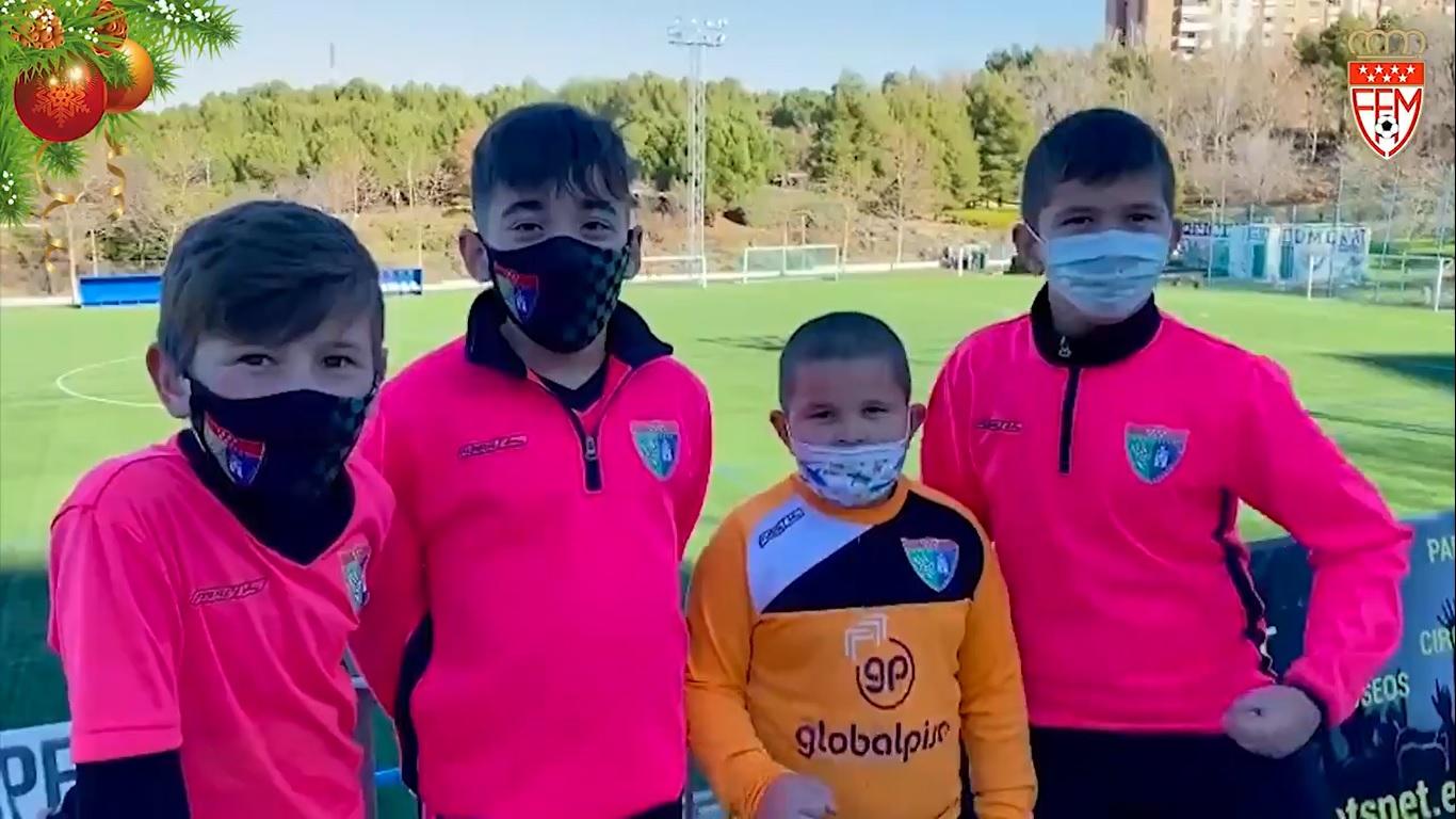 VÍDEO - El colectivo de futbolistas de la RFFM desea al fútbol de Madrid un año 2021 lleno de salud