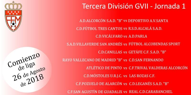 Calendario Tercera Division.Federacion Futbol De Madrid Calendario Del Grupo 7 De Tercera Division